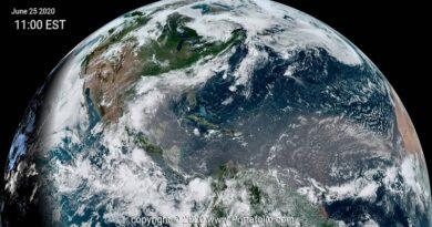 Polvo del Sahara hemisferio norte