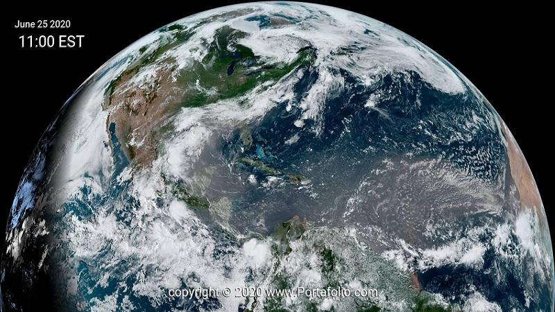 Polvo del Sahara (hemisferio norte)